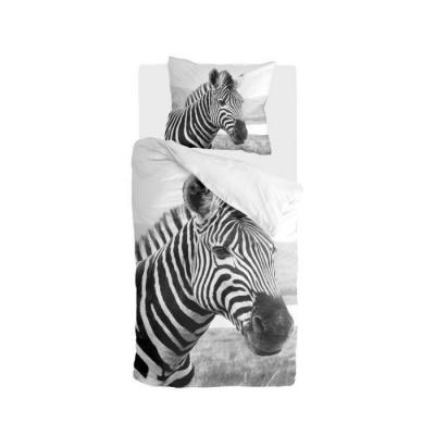 Dekbedovertrek Beastly Zwart / Wit - 140x220 cm