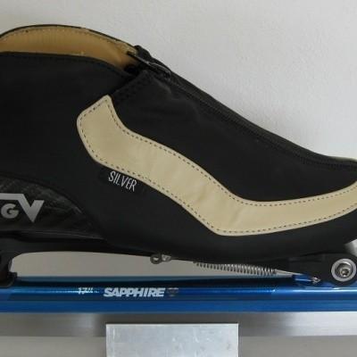 Foto van Viking klapschaats Silver / Sapphire schaats (verkoop alleen in de winkel)