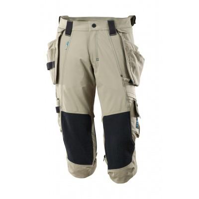 Foto van Driekwart broek, spijkerzakken, stretch | 17049-311 | 055-lichtkhaki