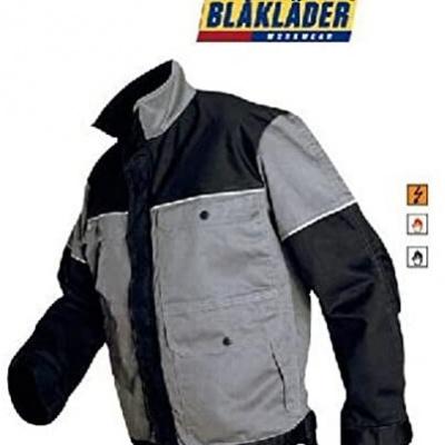 Foto van Blaklader werkjas 4075-1507 grijs/zwart EN531 en EN470-1, XXL