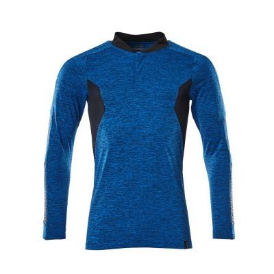 Mascot 18081-810 Poloshirt, met lange mouwen azur blauw/donker marine