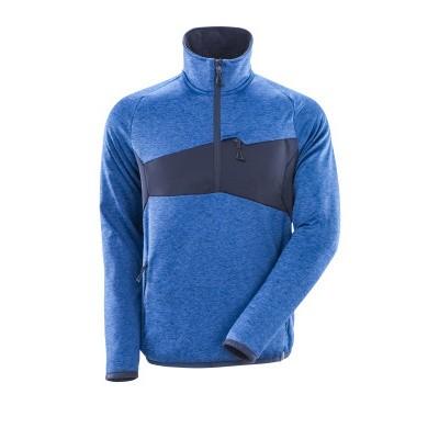 Mascot 18003 Fleece sweater met halve rits azur blauw/donker marine