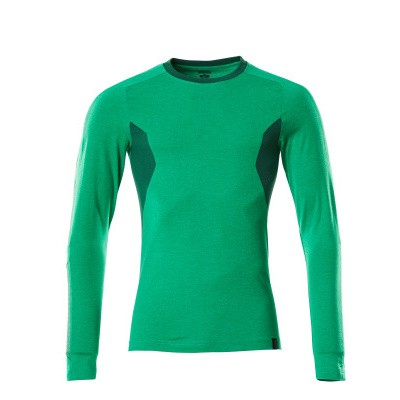 Mascot 18381-959 T-shirt, met lange mouwen gras groen/groen