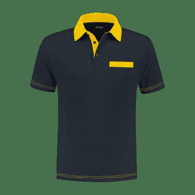 Foto van Indushirt PS 200 Polo-shirt marine-geel