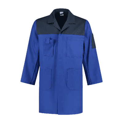 Foto van Bestex Stofjas 2-kleurig 100% katoen| SJ1002KL | 0111-korenblauw/marine