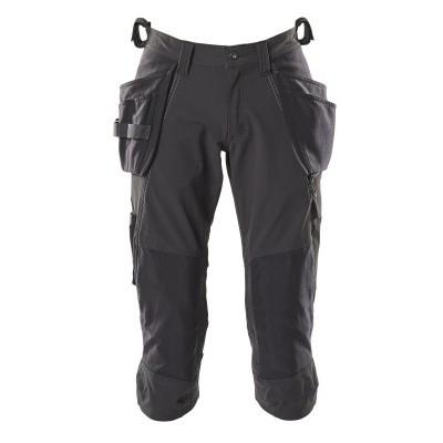 Foto van Mascot 18249-311 Driekwart broek met knie- en spijkerzakken zwart