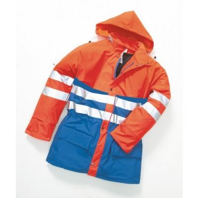 Hydrowear Plains Regenjas EN471 | 016880-1411 | oranje/korenblauw