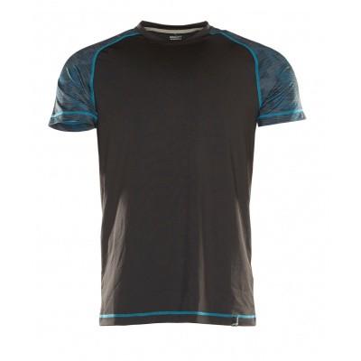 T-shirt, vochtafdrijvend,moderne pasvorm | 17482-944 | 09-zwart