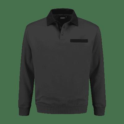 Foto van Indushirt PSW 300 Polosweater antraciet-zwart
