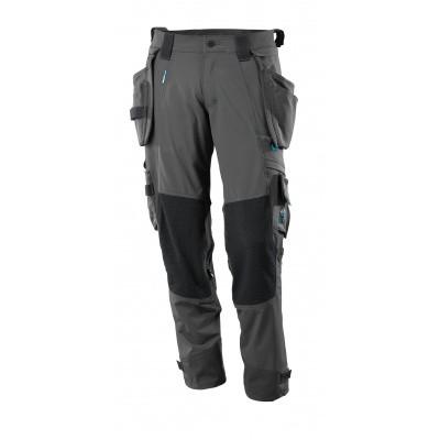 Foto van Broek, afneembare spijkerzakken, stretch | 17031-311 | 018-donkerantraciet