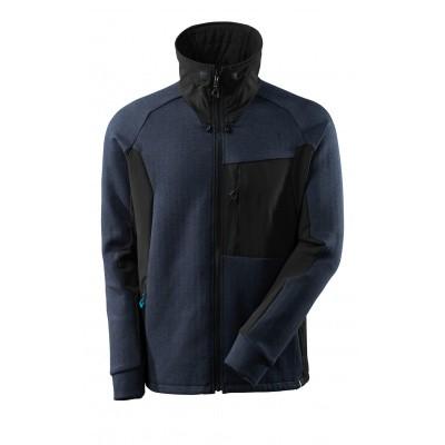 Sweater met rits, hoge kraag | 17484-319 | 01009-donkermarine/zwart