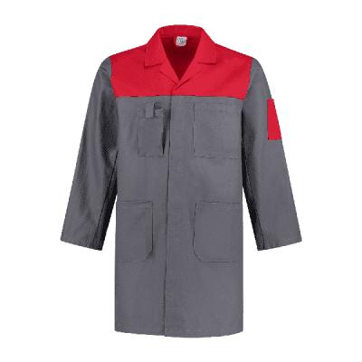 Foto van Bestex Stofjas 2-kleurig 100% katoen| SJ1002KL | 0882-grijs/rood