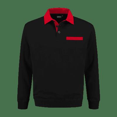 Foto van Indushirt PSW 300 Polosweater zwart-rood