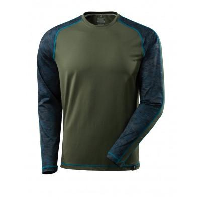 T-shirt met lange mouwen,vochtafdrijvend | 17281-944 | 033-mosgroen