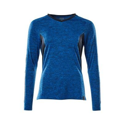 Mascot 18091-810 T-shirt, met lange mouwen azur blauw/donker marine