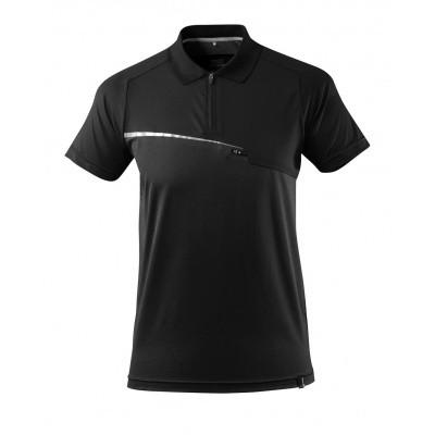 Polo met borstzak, vochtafdrijvend | 17283-945 | 09-zwart