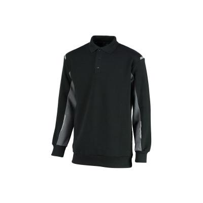 Orcon Polosweater Joe 34401/803, XL, zwart/donkergrijs
