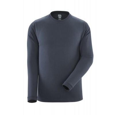 T-shirt, lange mouwen, moderne pasvorm | 18581-965 | 010-donkermarine