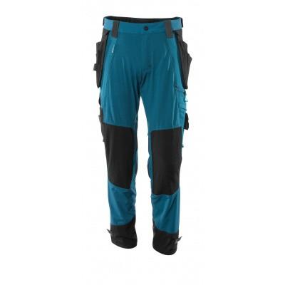 Foto van Broek, afneembare spijkerzakken, stretch | 17031-311 | 044-donkerpetrol