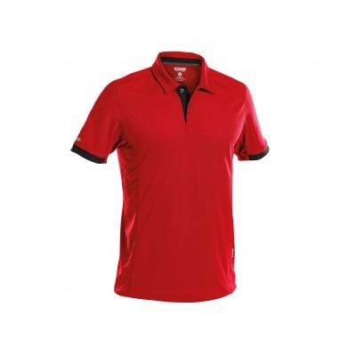 Dassy polo TRAXION | 710026 | rood/zwart