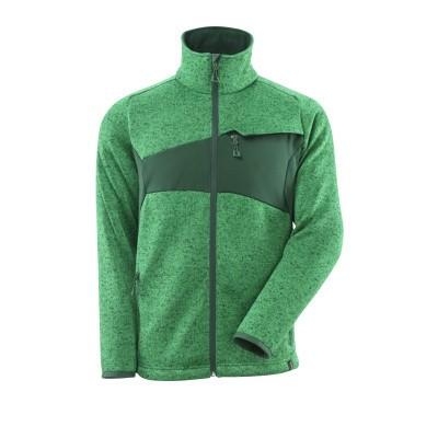 Mascot 18105-951 Gebreide trui met rits gras groen/groen