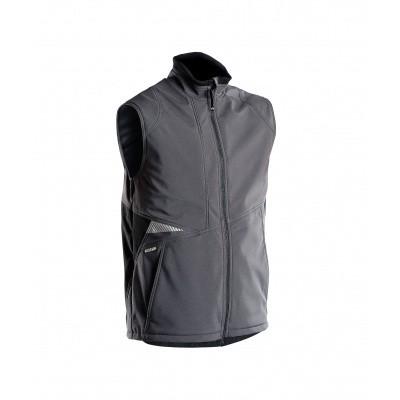 Foto van Dassy bodywarmer softshell FUSION | 350111 | antracietgrijs/zwart