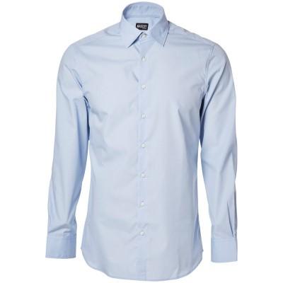 Overhemd popeline, moderne pasvorm, l. m | 50633-984 | 071-lichtblauw