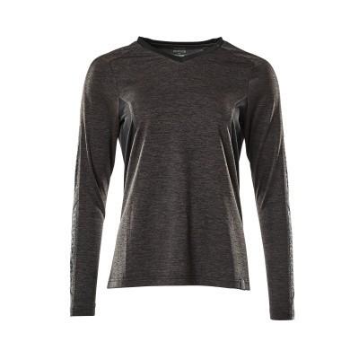 Mascot 18091-810 T-shirt, met lange mouwen donker antraciet/zwart
