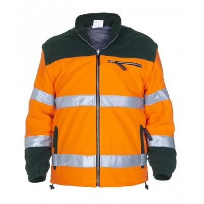 Foto van Hydrowear Fulham fleecejack EN471 | 04026009F-143 | oranje/groen