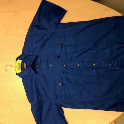 Foto van Blaklader overhemd korte mouw 3240-1190 korenblauw, L