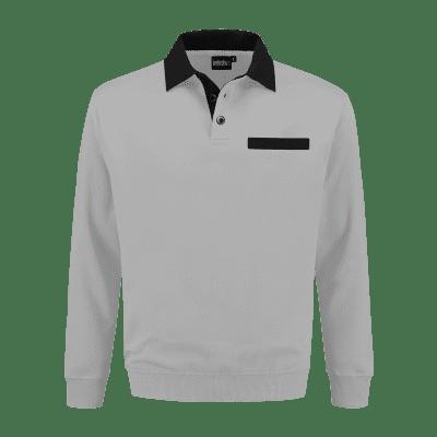 Foto van Indushirt PSW 300 Polosweater grijs-zwart