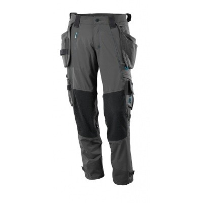 Trousers, holster pockets, donker antraciet