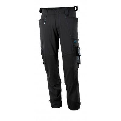 Broek, Dyneema kniezakken, stretch | 17079-311 | 09-zwart