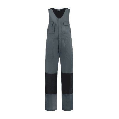 Foto van Bestex Bodybroek 60% katoen/40% polyester| BBC6040 | 0889-grijs/zwart