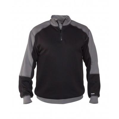 Foto van Dassy tweekleurige sweater BASIEL | 300358 | zwart/cementgrijs