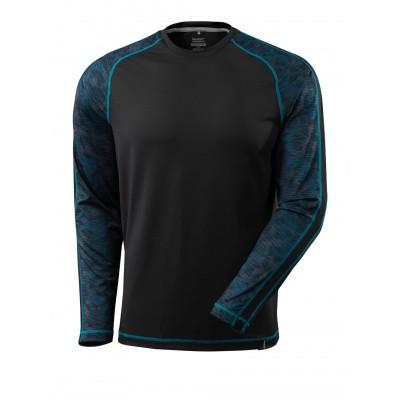 T-shirt met lange mouwen,vochtafdrijvend | 17281-944 | 09-zwart