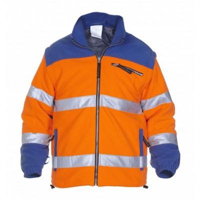 Hydrowear Fulda fleecejack EN471 | 04026009F-1411 | oranje/korenblauw