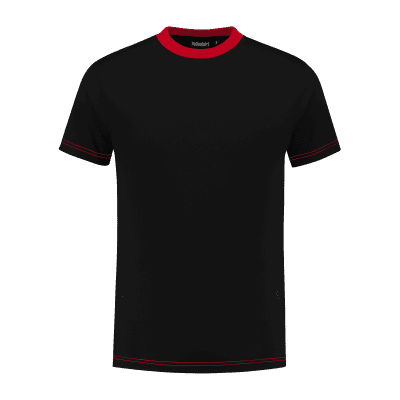 Indushirt TS 180 T-shirt zwart-rood