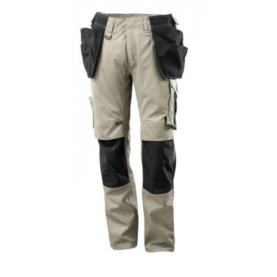 Foto van Broek met spijkerzakken, lichtgewicht | 17631-442 | 05509-lichtkhaki/zwart