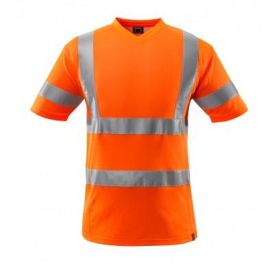 T-shirt, V-hals, klasse 2 | 18282-995 | 014-hi-vis oranje