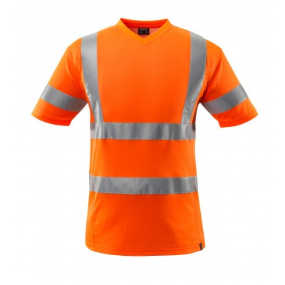 Foto van T-shirt, V-hals, klasse 2 | 18282-995 | 014-hi-vis oranje