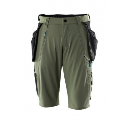 Foto van Shorts with detachable holster pockets mos groen