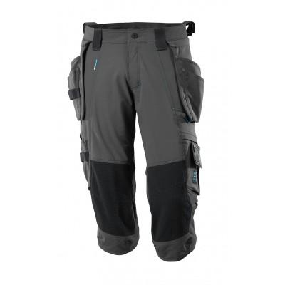 Foto van Driekwart broek, spijkerzakken, stretch | 17049-311 | 018-donkerantraciet