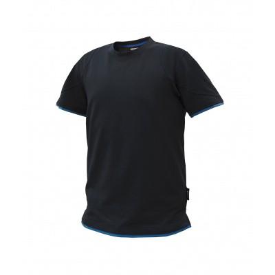 Foto van Dassy t-shirt KINETIC | 710019 | zwart/azuurblauw