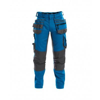 Dassy stretch broek FLUX | 200975 | azuurblauw/antracietgrijs