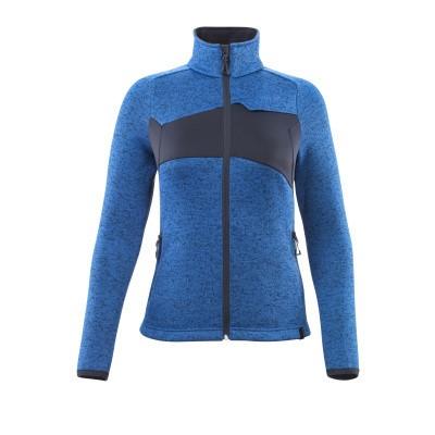 Mascot 18155-951 Gebreide trui met rits azur blauw/donker marine