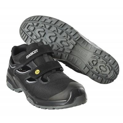 Foto van Veiligheidsschoen Heren, sandaalen S1P   F0100-910   09880-zwart/zilver