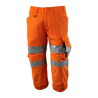 Foto van Driekwart broek met kniezakken, klasse 2 | 17549-860 | 014-hi-vis oranje