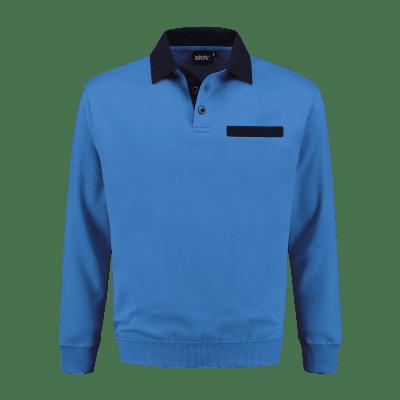 Foto van Indushirt PSW 300 Polosweater korenblauw-marine