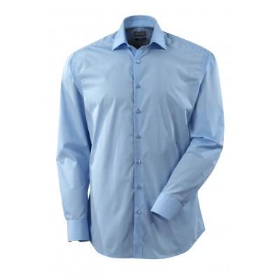 Foto van Overhemd popeline, ruime pasvorm, l. mou | 50631-984 | 071-lichtblauw